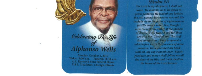 Alphonso Wells Obituary