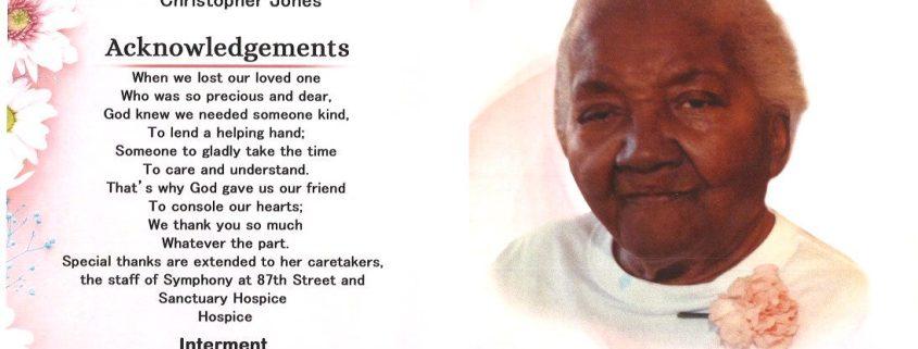 Mrs Louise Anthony Obituary