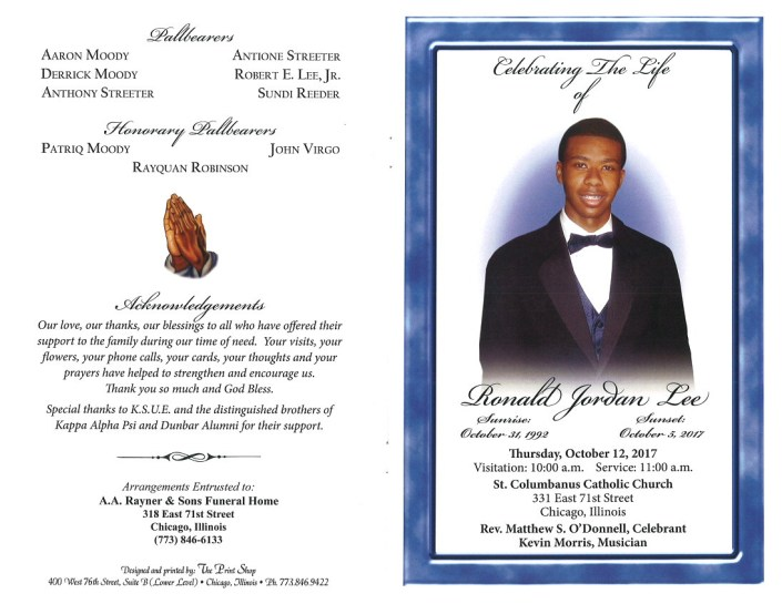 Ronald Jordan Lee Obituary