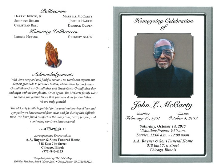John L McCarty Obituary