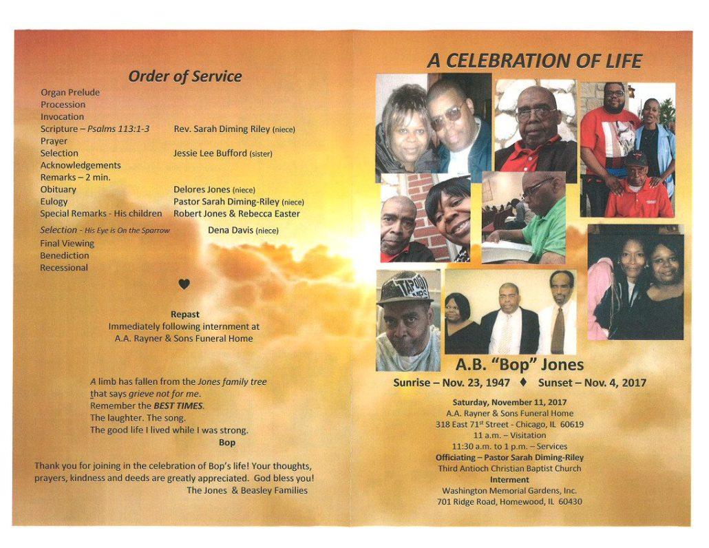 A.B. BOP Jones OBituary
