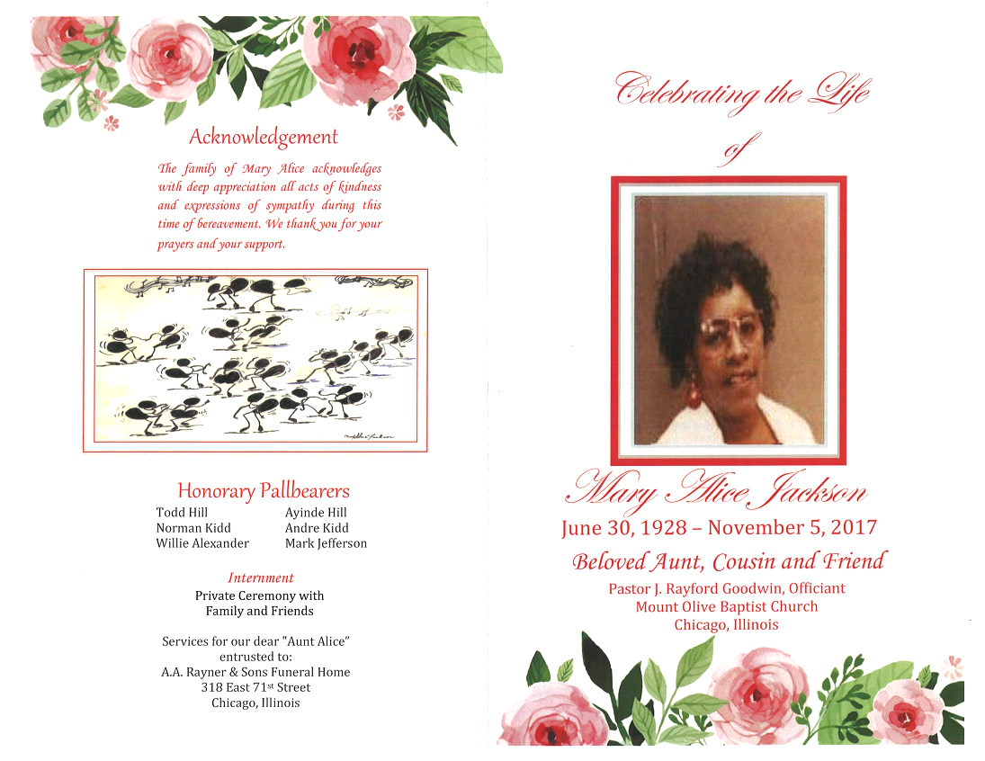 Mary Alice Jackson Obituary Aa Rayner And Sons Funeral Home