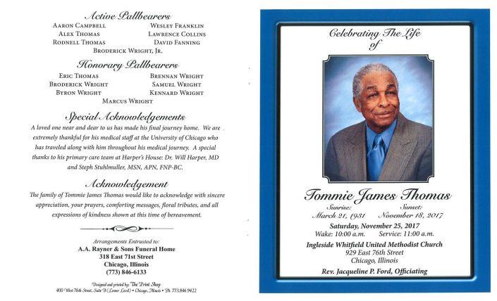 Tommie James Thomas Obituary