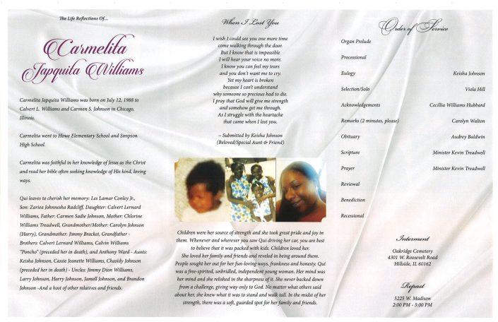 Carmelita Japquita Williams Obituary