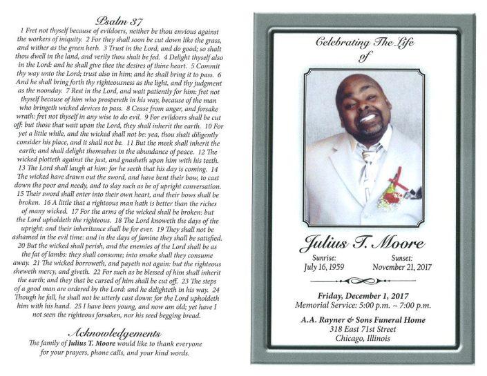 Julius T Moore Obituary