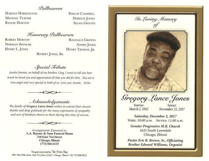 Gregory Lance Jones Obituary