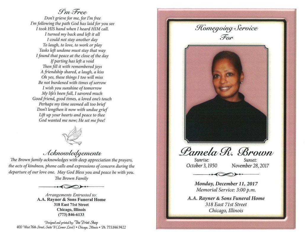 Pamela R Brown Obituary