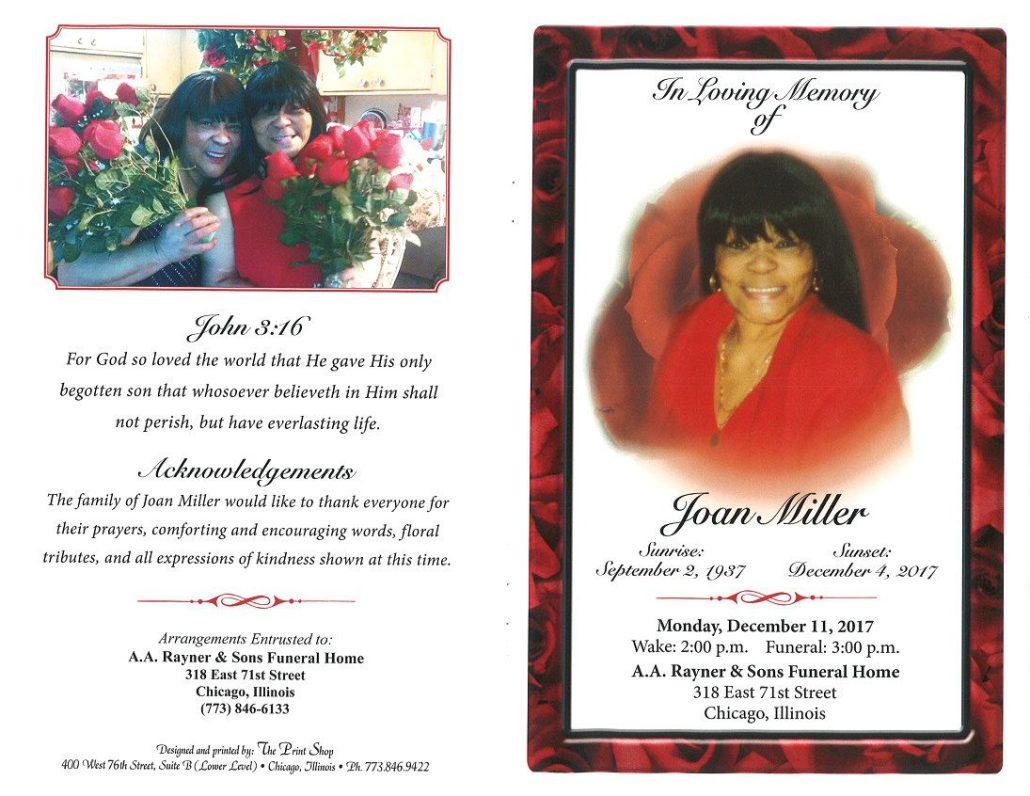 Joan Miller Obituary