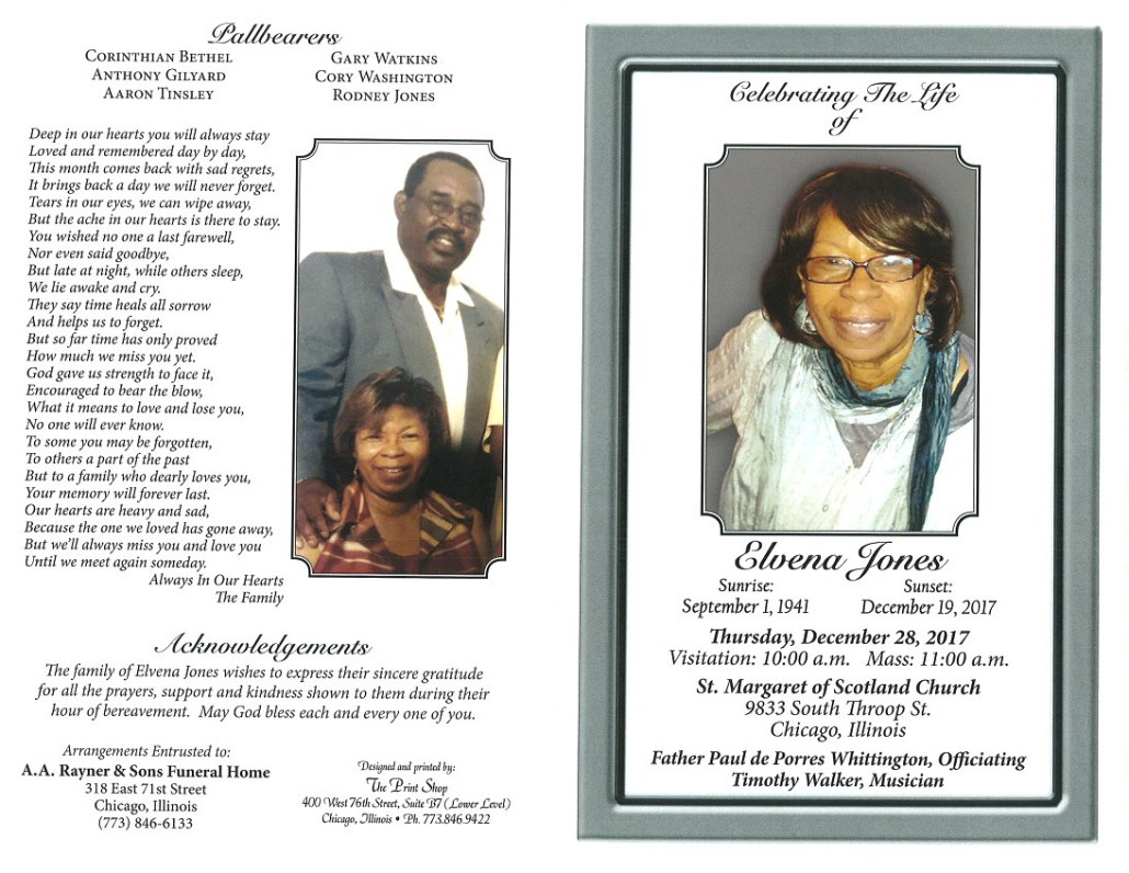 Elvena Jones Obituary