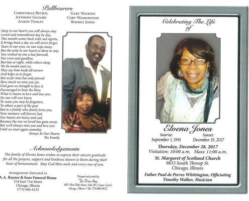 Elvena Jones Obituary