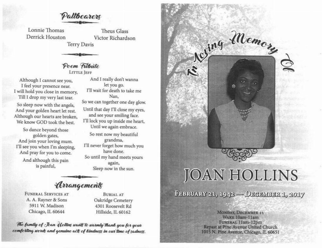 Joan Hollins Obituary