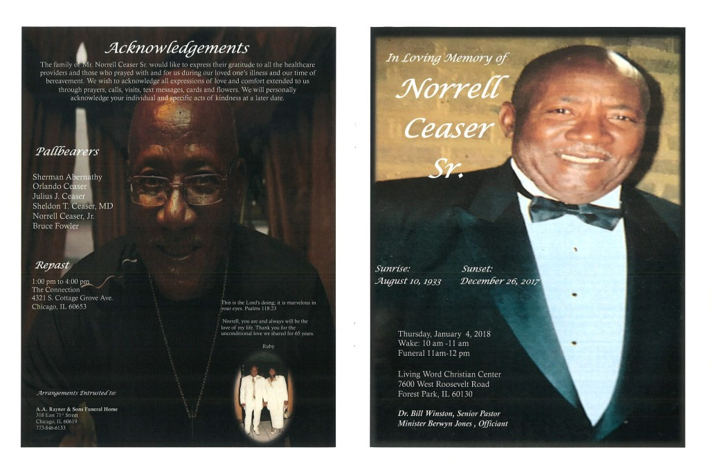 Norrell Ceaser Sr Obituary
