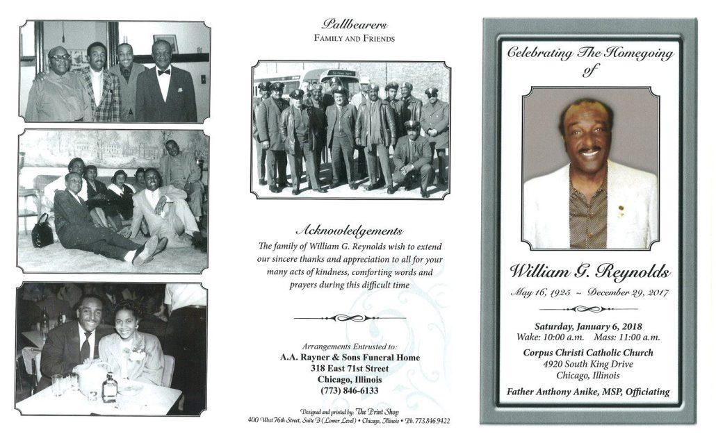 William G Reynolds Obituary