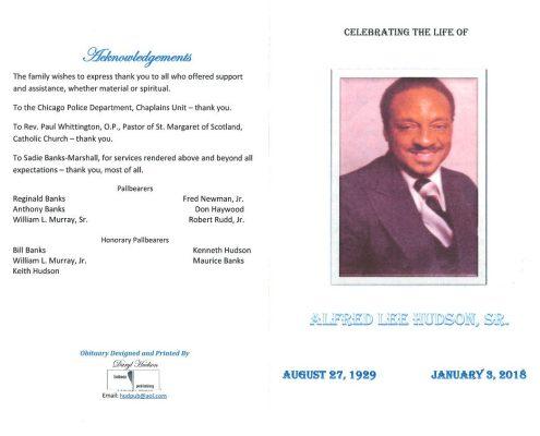Alfred Lee Hudson Sr Obituary
