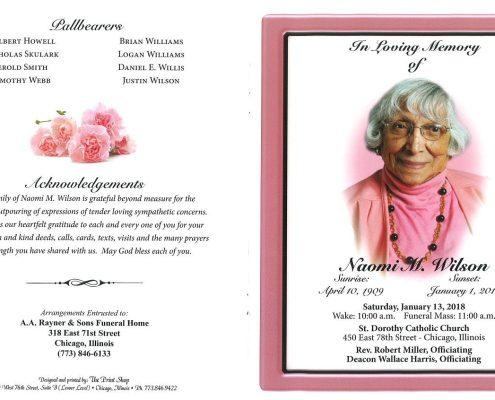 Naomi M Wilson Obituary