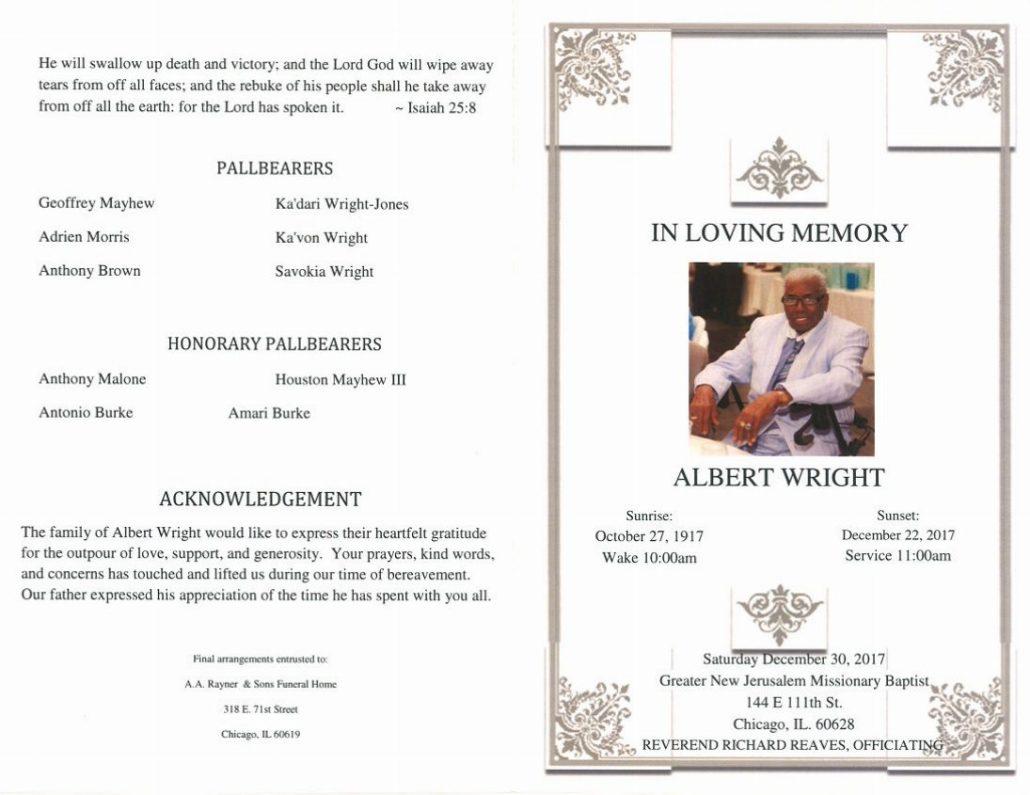 Albert Wright Obituary