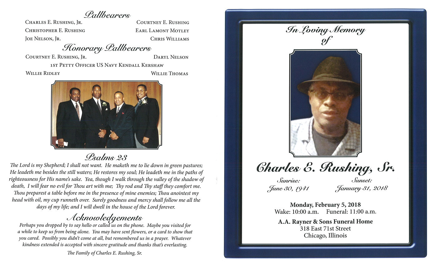 Charles E Rushing Sr Obituary | AA Rayner and Sons Funeral Home