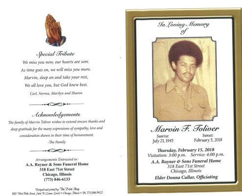 Marvin F Foliver Obituary