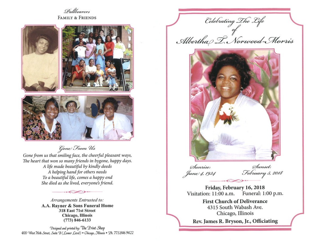 Albertha Norwood Morris Obituary