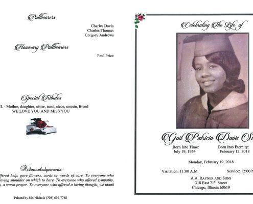 Gail Patricia Davis Smith Obituary