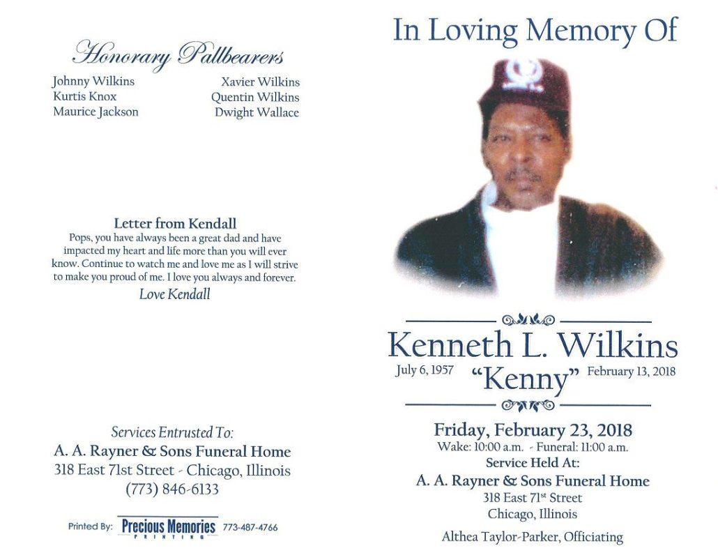 Kenneth L Wilkins Obituary