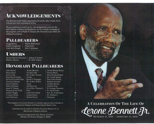 Lerone Bennett Jr Obituary