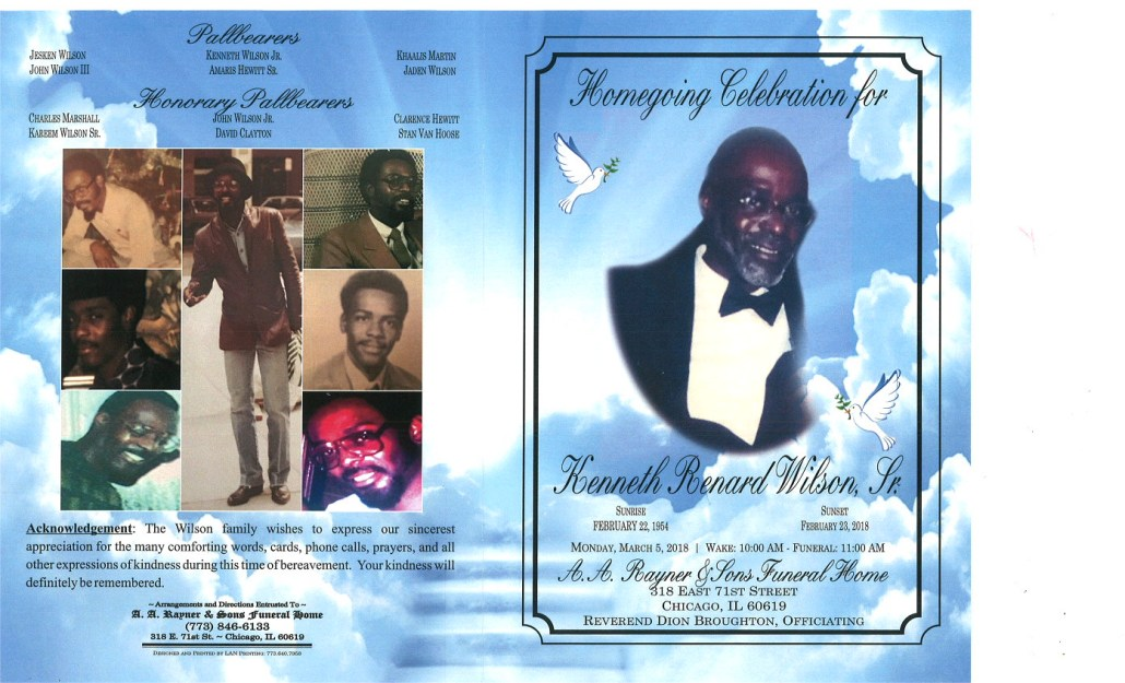Kenneth Renard Wilson Sr Obituary