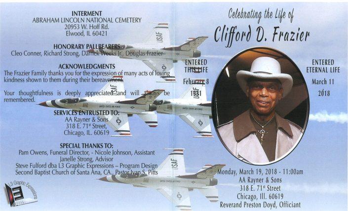Clifford D Frazier Obituary