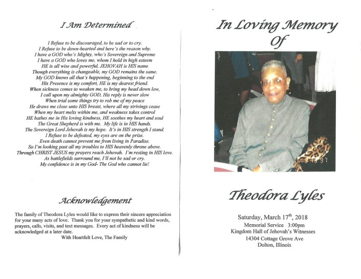 Theodora Lyles Obituary