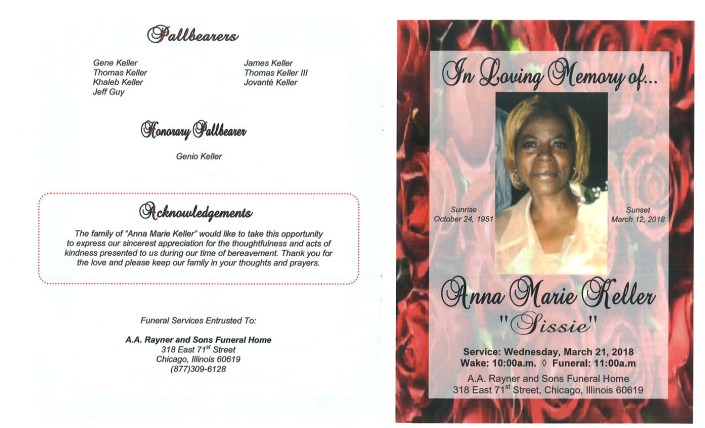 Anna Marie Keller Obituary