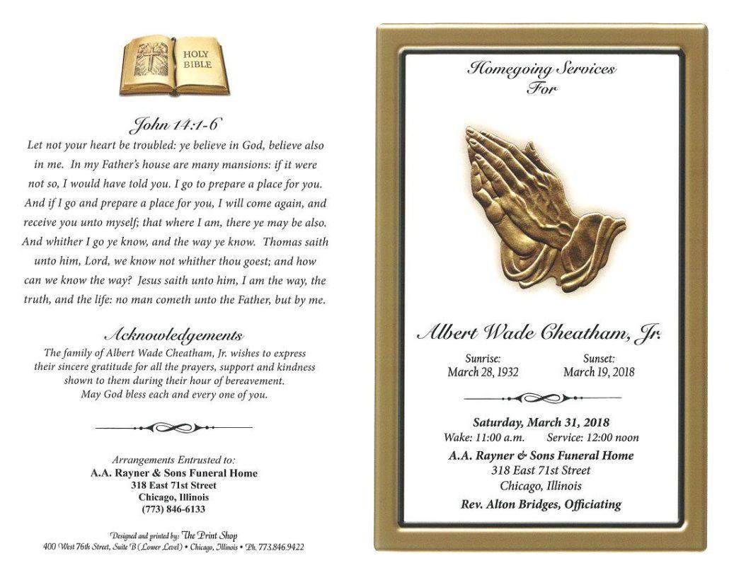 Albert Wade Cheatham Jr Obituary
