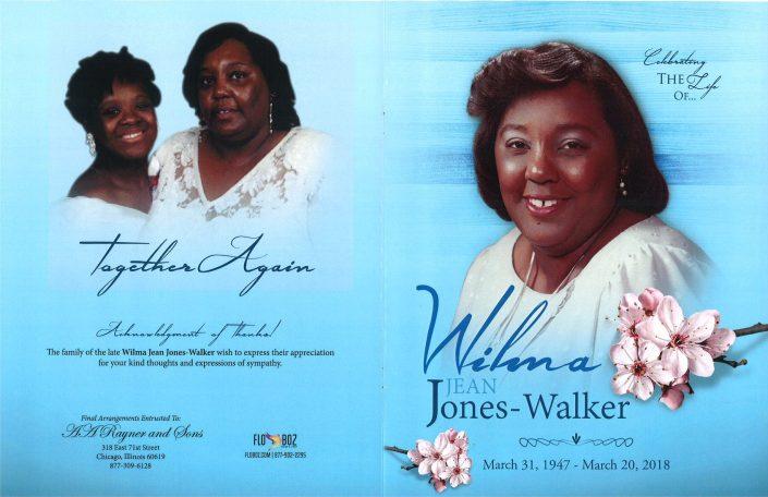 Wilma Jean Jones Walker Obituary