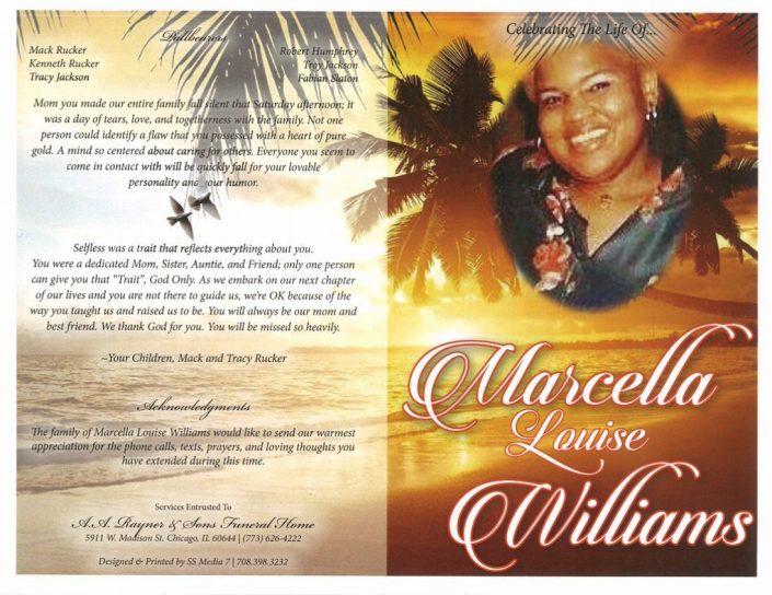 Marcella Louise Williams Obituary