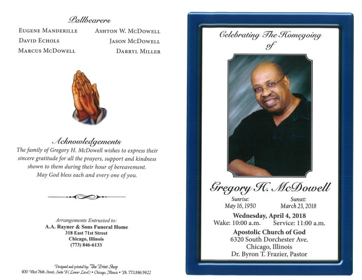 Gregory H Mcdowell Obituary