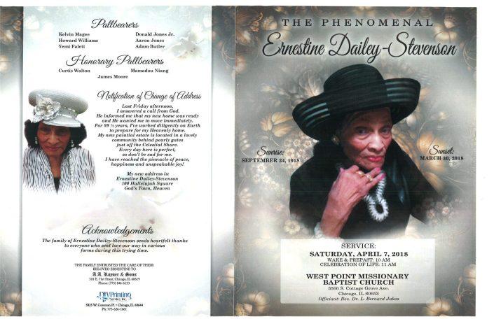 Ernestine Dailey Stevenson obituary