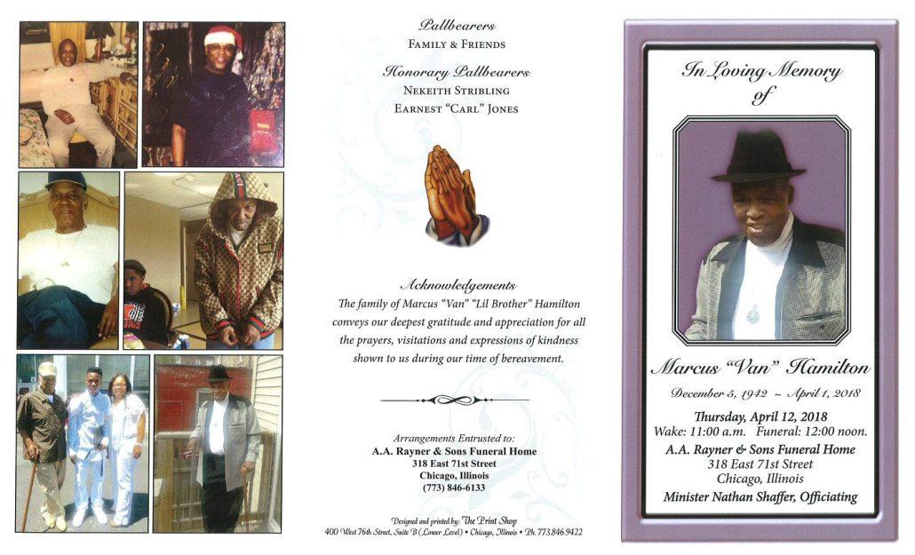 Marcus Van Hamilton Obituary