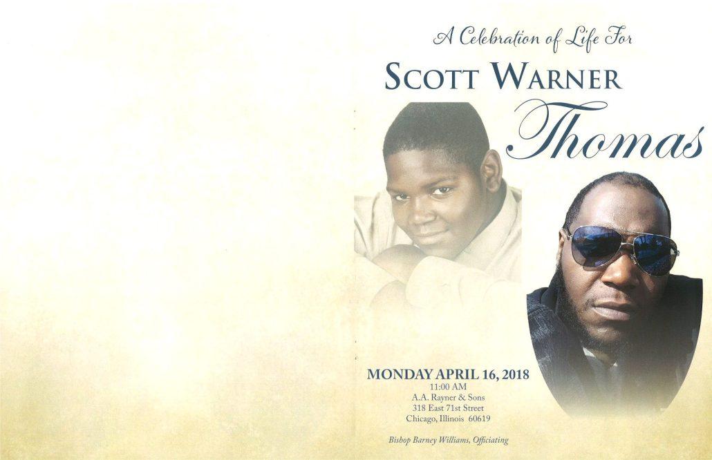 Scott Warner Thomas Obituary AA Rayner and Sons