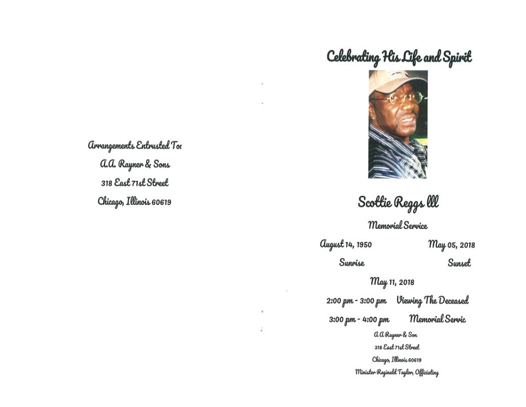 Scottie Reggs III Obituary