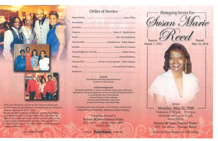 Susan Marie Reed Obituary