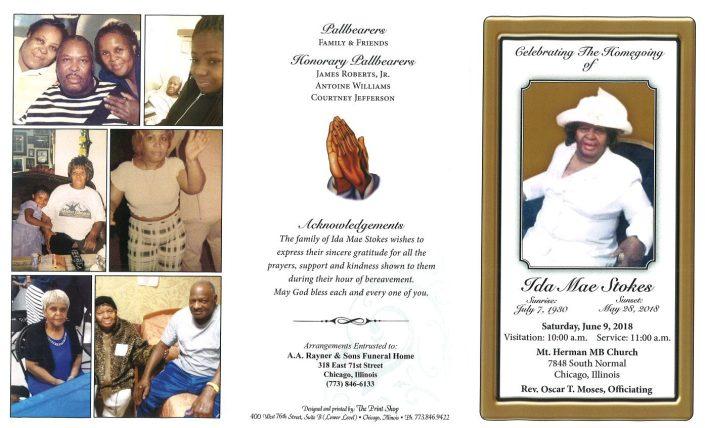 Ida Mae Stokes Obituary