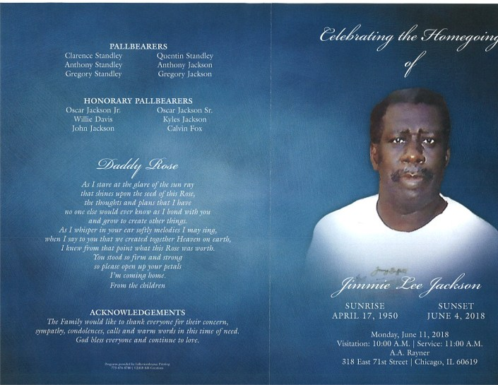 Jimmie Lee Jackson Obituary