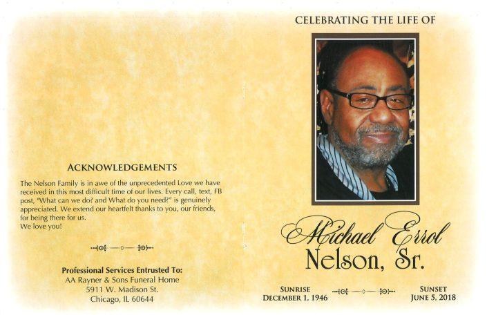 Michael Errol Nelson Sr Obituary