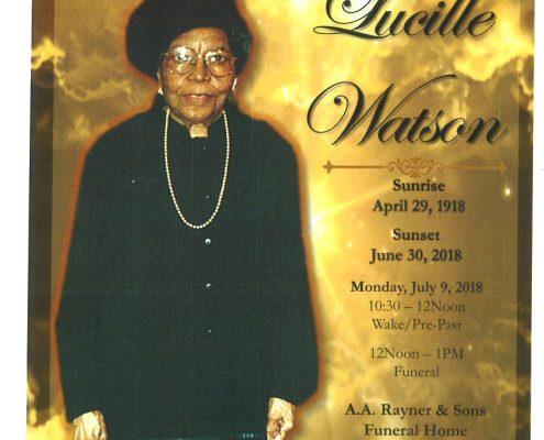 Lucille Watson Obituary