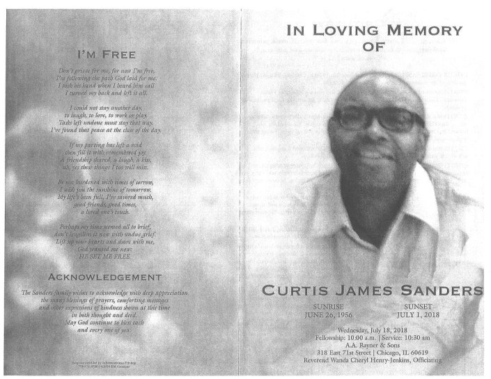 Curtis James Sanders Obituary
