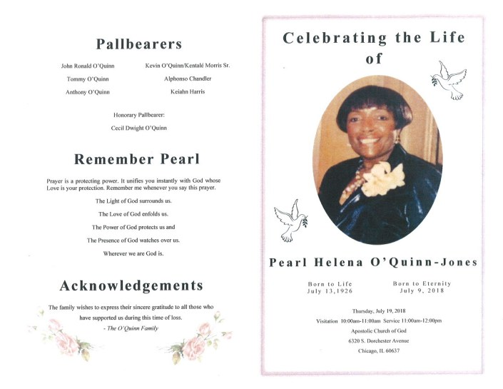 Peral Helena OQuinn Jones Obituary