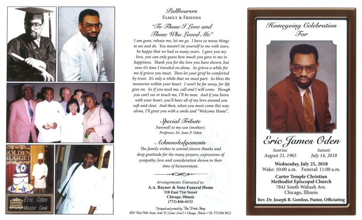 Eric James Oden Obituary