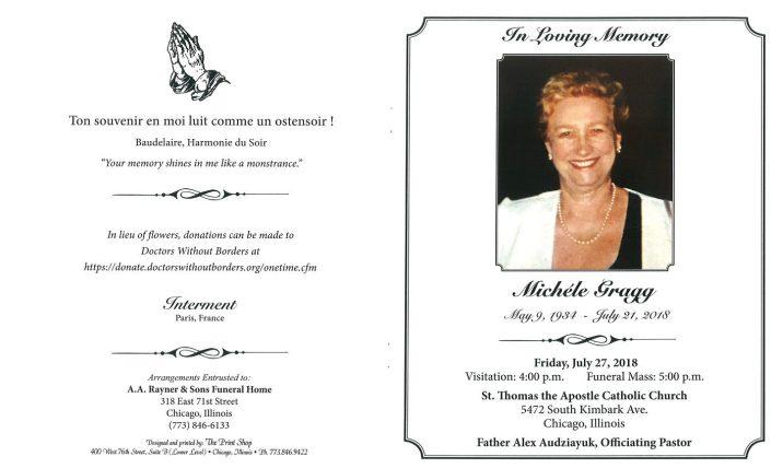 Michele Gragg Obituary