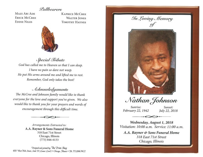 Nathan Johnson Obituary
