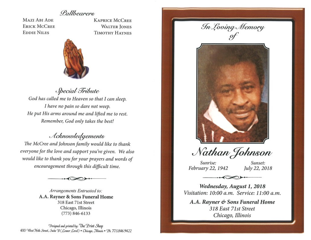 Nathan Johnson Obituary
