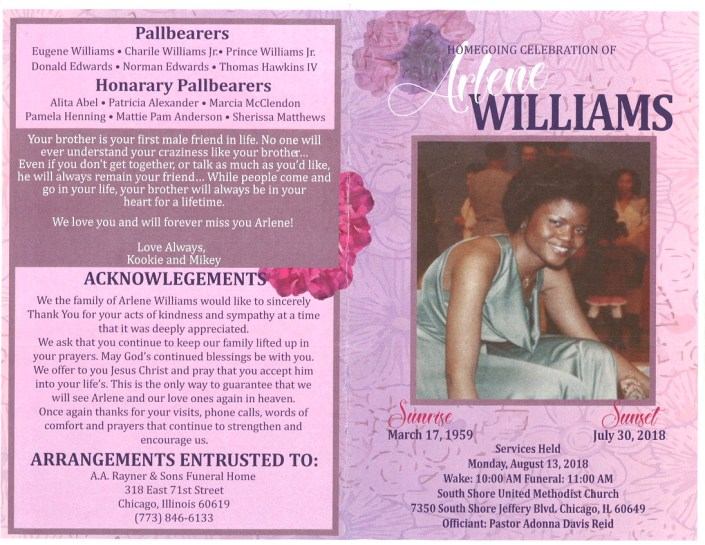 Arlene Williams Obituary